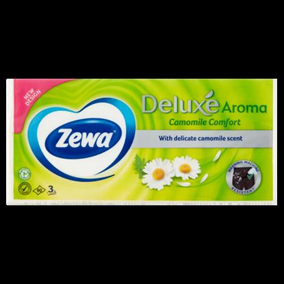 Kép Zewa Deluxe Camomile Comfort illatosított papír zsebkendő 3 rétegű 90 db