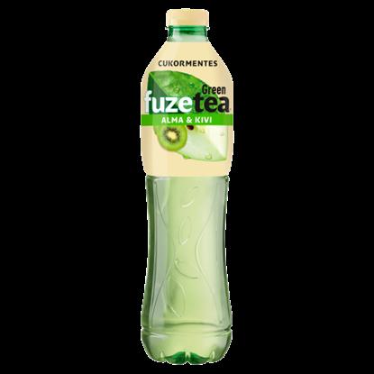 Kép FUZETEA Zero energiamentes, szénsavmentes, alma és kivi ízű üdítőital zöld tea kivonattal 1,5 l