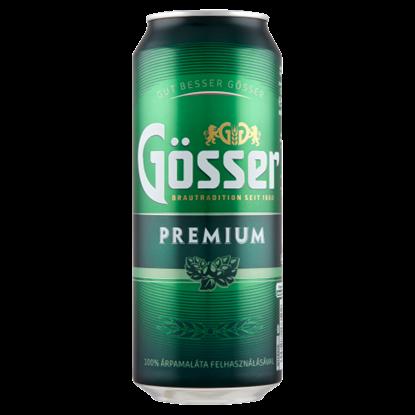 Kép Gösser Premium minőségi világos sör 5% 0,5 l doboz