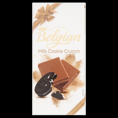 Kép Belgian kekszdarabkás tejcsokoládé 100 g