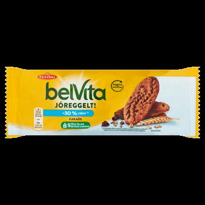 Kép Belvita JóReggelt! kakaós, gabonás, omlós keksz csokoládédarabokkal 50 g