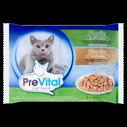 Kép PreVital Sterile Alutasakos teljes értékű eledel felnőtt ivartalanított macskák számára 4 x 100 g