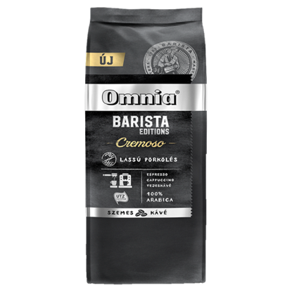 Kép Omnia Barista Editions Cremoso szemes pörkölt kávé 900 g