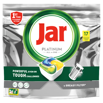 Kép Jar Platinum Lemon All In One Mosogatókapszula, 17 db
