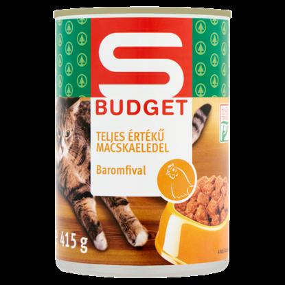 Kép S-Budget teljes értékű macskaeledel baromfival 415 g