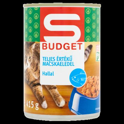 Kép S-Budget teljes értékű macskaeledel hallal 415 g