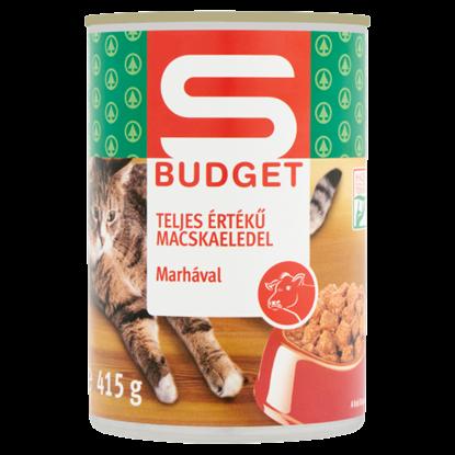 Kép S-Budget teljes értékű macskaeledel marhával 415 g