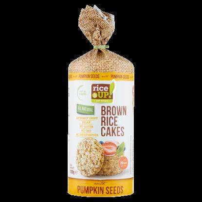 Kép RiceUp! Eat Smart puffasztott teljes kiőrlésű barna rizs szelet tökmaggal 120 g