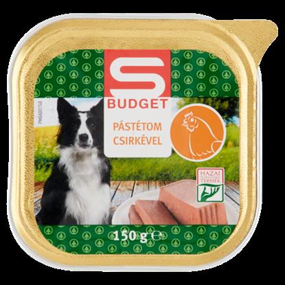 Kép S-Budget pástétom csirkével, teljes értékű állateledel felnőtt kutyák számára 150 g